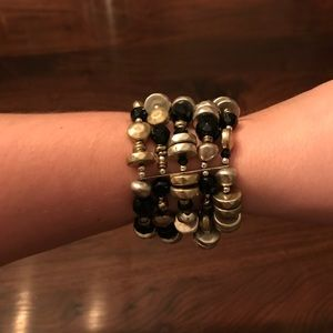 Jewelry - Black and Gold Bracelet